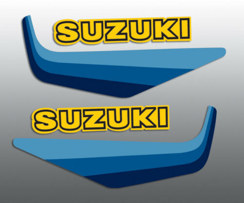 SUZUKI 1982 RM80 TANK DECALS STANDARD SEE OUR WICKED TOUGH FOR ADDED DURABILITY