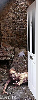 Zombie 2 Design Halloween Decoration Large Exterior Fabric Door Banner Scary