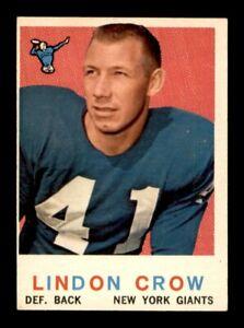 1959-Topps-Football-Set-Break-156-Lindon-Crow-EX-OBGcards