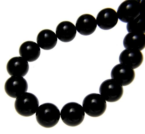 """GENUINE NATURAL BLACK CORAL BEAD BALL STRAND NECKLACE 10MM 16/"""" 32/"""""""