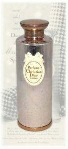 Vintage-Christian-Miss-Dior-1960-France-Paris-Perfume-Bottle-Gold-Metal-Rare