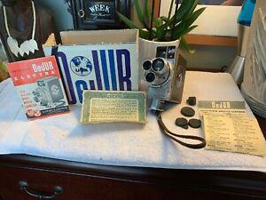 Vintage-DeJur-Electra-8mm-Movie-Camera-Original-Box-manual-EXTRAS-Rare-Wow