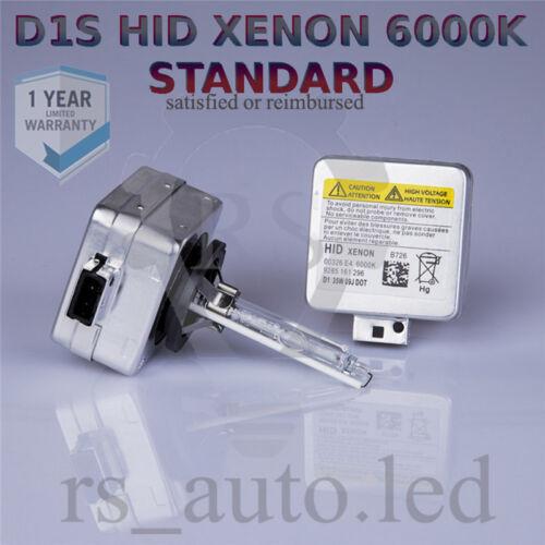 2x D1S Xenon Blanco 6000K Bombillas Reemplazo Bajo Haz Peugeot 407 Coupe 05-11