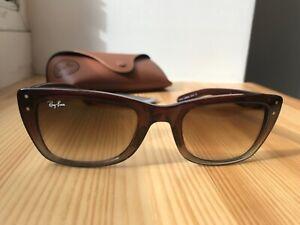 Gafas-de-sol-geniales-gafas-de-ray-ban-en-marron-como-nuevo-Ray-Ban-rayban-Caribbean