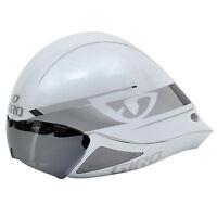 Giro Selector Tt Time Trial Triathlon Bike Helmet - S/m 51-57cm White/silver