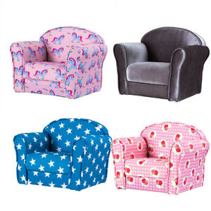 Kids Childrens Comfy Soft Foam Chair Toddlers Armchair ...