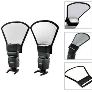 Universal-Camera-Flash-Diffuser-Softbox-Silver-White-Reflector-For-Speedlight