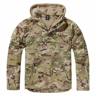 Jacket Brandit Classic Windbreaker Hooded Anorak Cadet Hiking Hunting Woodland