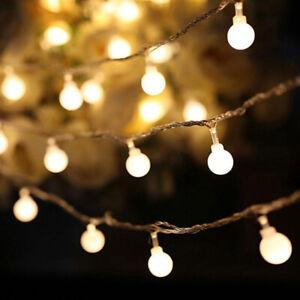 de-Navidad-Bola-redonda-Blubs-Las-luces-de-hadas-Alambre-de-cobre-LED-String