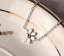 Women/'s 18KGP Rose Gold Silver Stainless Steel Daisy anklets