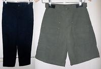 2 Boys Items Lands End Slacks Navy Size 12 & Dockers Cargo Shorts Green Small