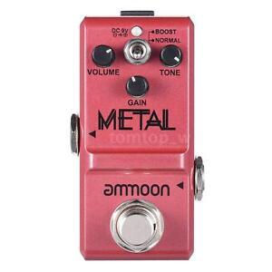 ammoon nano series heavy metal distortion guitar effect pedal true bypass hot 708156530296 ebay. Black Bedroom Furniture Sets. Home Design Ideas