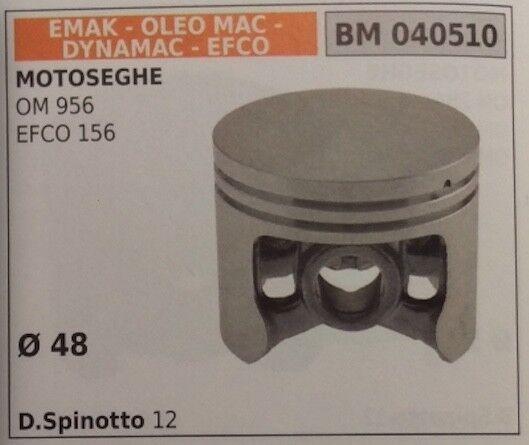 PISTONE COMPLETO MOTOSEGA EMAK DYNAMAC EFCO 156 OLEOMAC OM 956 Ø 48