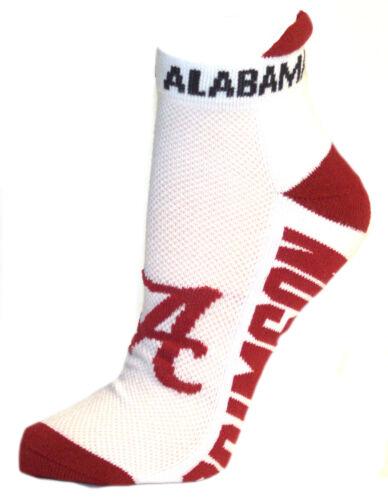 Alabama Crimson Tide White Ankle Tab Socks