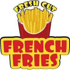 French Fries Concession Decal Sign Cart Trailer Stand Sticker Equipment