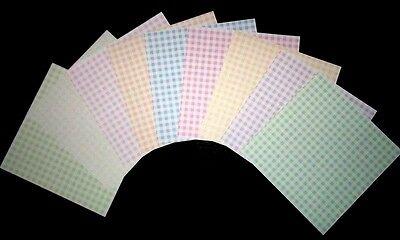 "Pastel CHECKS Scrapbooking Papers  **15cm x 15cm** (6"" X 6"")"