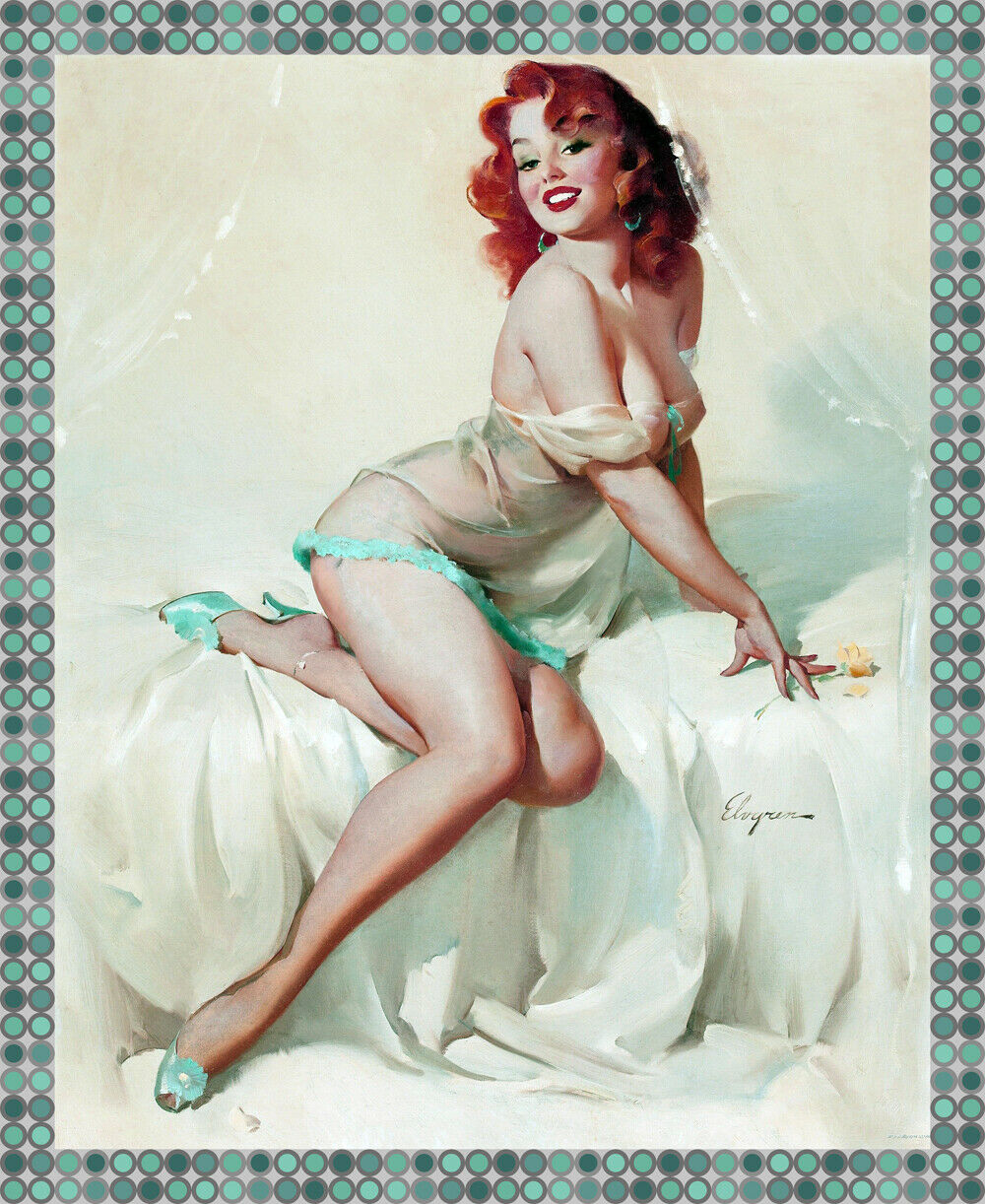8847.Decoration Poster.Home room interior art print.Retro Sexy Pinup rossohead
