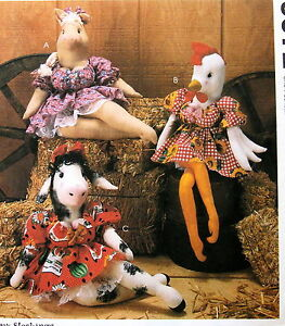 Barnyard Babes kitchen cow doll CHICKEN pig busty dolly pardon ...