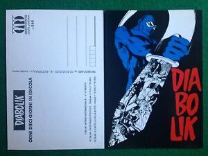 1995 Cartolina Card DIABOLIK INTRIGO INTERNAZIONALE Promocard n 34//540