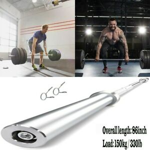 NEW 7Ft Olympic Chrome Bar Weight Lifting Barbell Rod for Workout Gym Training