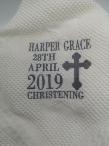 baptism shawl blanket gift namesake present Stunning personalised christening