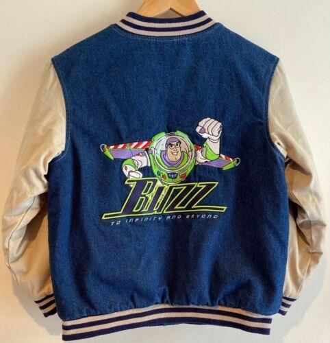 Disney Store Vintage Denim Varsity Bomber Jacket B