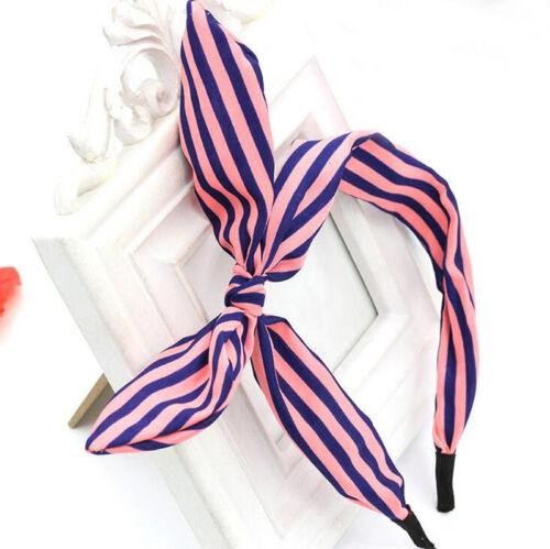 Lovely Fashion Women Rabbit Ears Bowknot Ribbon Headband Hair Band Head Piece