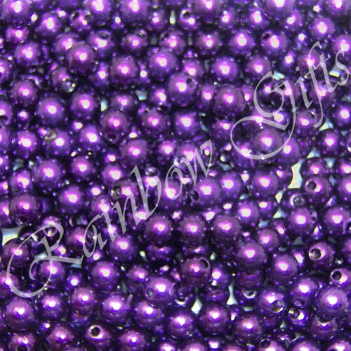 FAUX PEARL BEADS 4mm  6mm OR 8mm FLY TYING ACRYLIC ROUND BEADS
