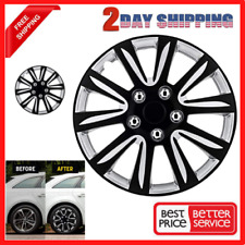 Universal Wheel Covers Fit Premier Toyota Camry Style Black 16 Inch Set Of 4