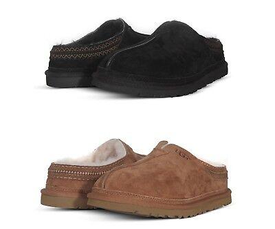f3cab566098 UGG Boots Neuman Men's Slippers Clog Suede Slip On Shoes 3234 Black ...