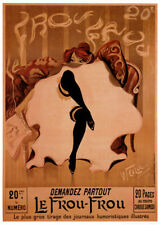 VINTAGE ART PRINT - Le Frou-Frou by Lucien-Henri Weiluc 19x26 French Poster