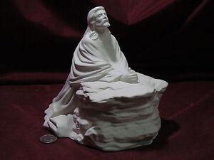 Ceramic Bisque Jesus in the Garden U-Paint Unpainted Praying Religious