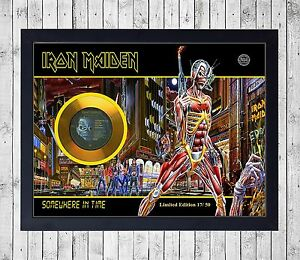 IRON-MAIDEN-SOMEWHERE-IN-TIME-CUADRO-GOLD-PLATINUM-CD-EDICION-LIMITADA-FRAMED