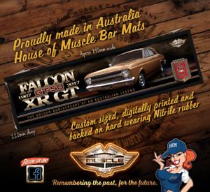 FORD FALCON XR 50TH ANNIVERSARY Bar Runner XR GT FALCON FIFTY YEARS BAR MAT