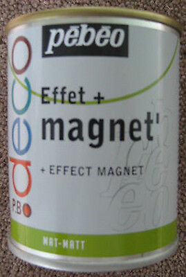 Pebeo Magnetic Paint 750ml (Use with Magnet, Magnets)