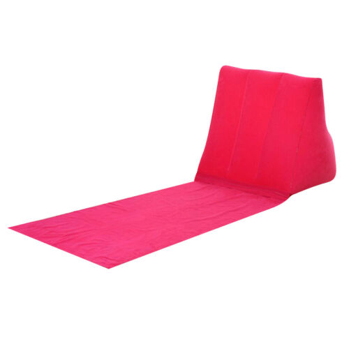 Seating Inflating Beach Camp Lounger Back Pillow Cushion Chair Air Bed Rose