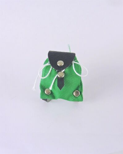 B0409 Dollhouse Miniature Green Backpack with Straps