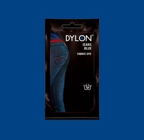 Dylon JEANS BLUE HAND DYE 50g Fabric Cotton Linen Clothes Trendy Jeans