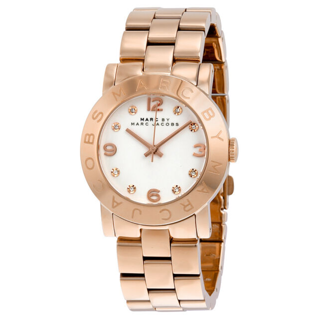 Marc Jacobs Rose Gold-Tone Stainless Steel Ladies Watch MBM3077