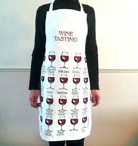 Kitchen Apron Wine Tasting Adult Cooking Gift Cotton Simon Drew