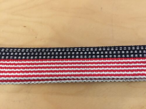 """webbing  belt,stars/&stripes us made 100/% cotton silver  buckle//tip 44/""""and less"""