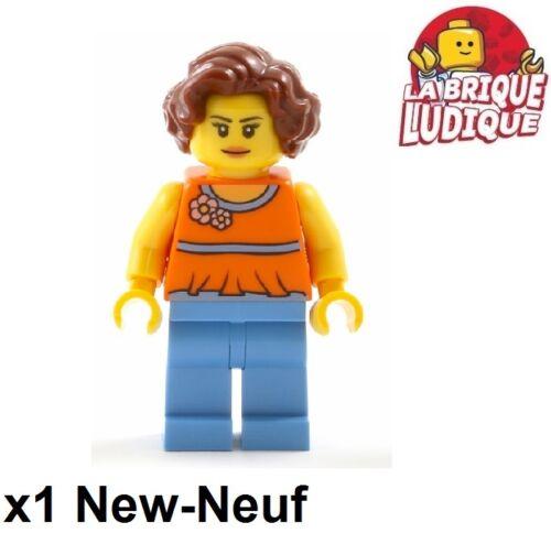 Lego Figurine Minifig mom maman femme women fleur flower twn276 31065 NEUF