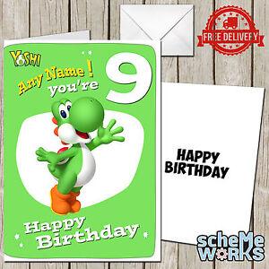 Yoshi personalised greeting birthday card mario toad luigi koopa image is loading yoshi personalised greeting birthday card mario toad luigi bookmarktalkfo Image collections