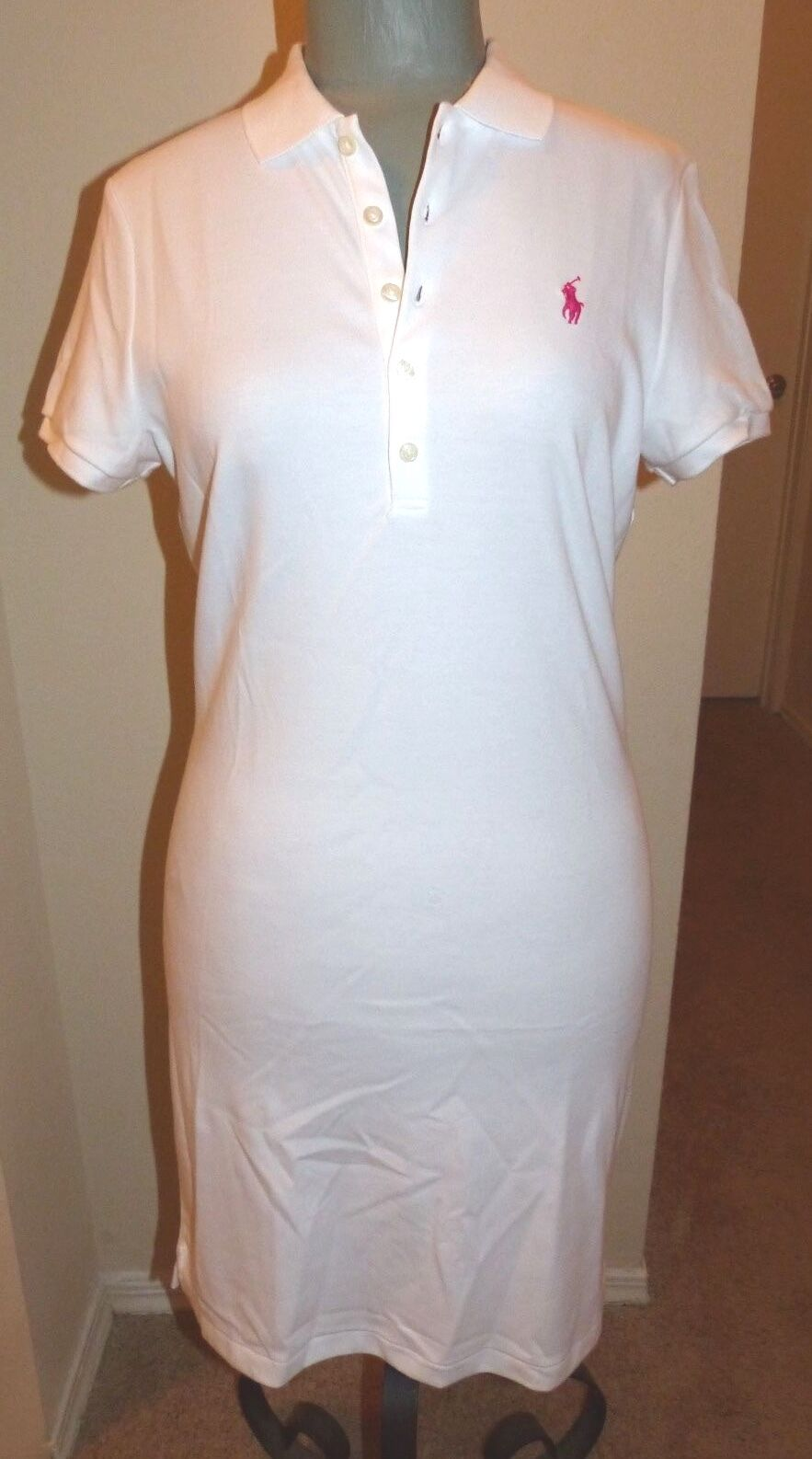 POLO RALPH LAUREN Ladies Classic Polo Dress  Weiß  Größe MEDIUM  NWT