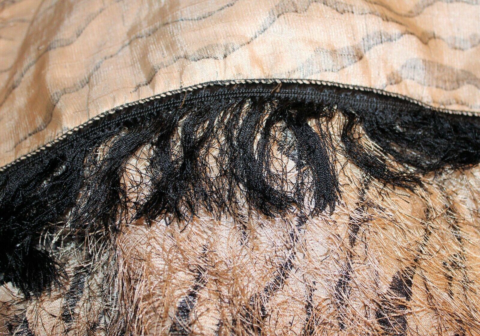 Daniele Meucci Triangle Scarve Tan Black Fringe … - image 7