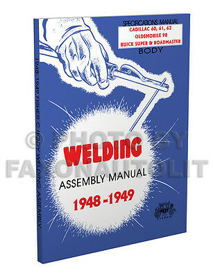 1948-1949 Buick Super and Roadmaster Body Welding Assembly Manual Fisher