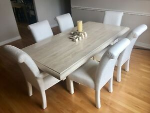 Details About Italian Travertine Ello Brand Dining Table With Rectangular Base