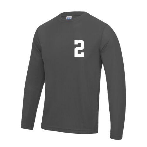 Mens Adult Custom Long Sleeved Sport T Shirt Team Kit NAME /& NUMBER Football