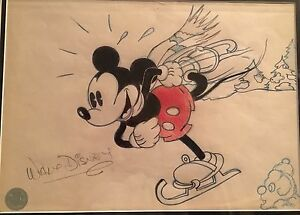 Walt Disney Original Autograph Signed Sketch Drawing of ...
