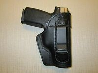 Kahr P, Pm, Cw 9, 40 Or 45 Iwb Leather Holster, Ambidextrous, Right Or Left Hand